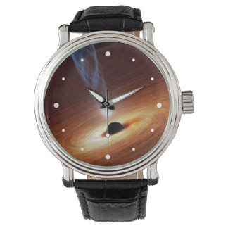Black Hole Astronomy Space Art Wristwatch