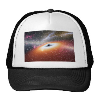 Black Hole at the Center of a Galaxy Mesh Hats