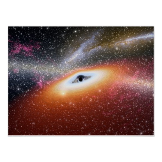 Black Hole at the Center of a Galaxy Poster