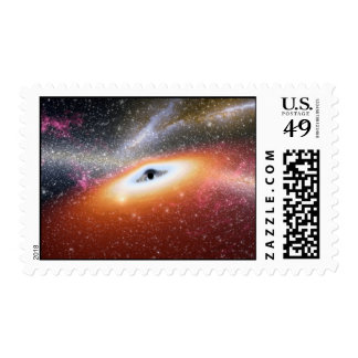 Black Hole at the Center of a Galaxy Stamp