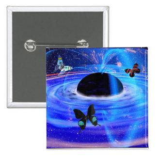 Black Hole & Butterflies Button