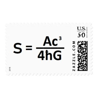 Black Hole Entropy Formula Postage