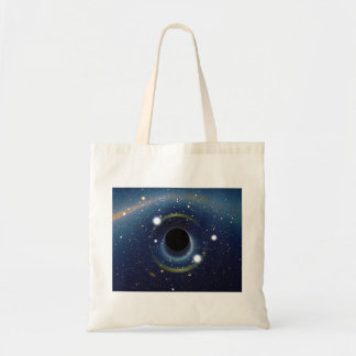 Black hole in front of the Large Magellanic Cloud Canvas Bag
