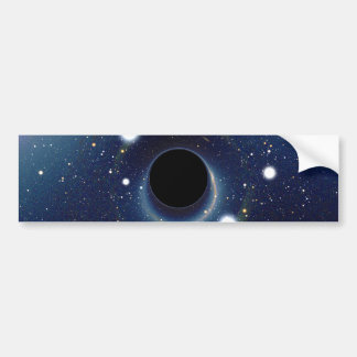 Black hole in front of the Large Magellanic Cloud Bumper Sticker