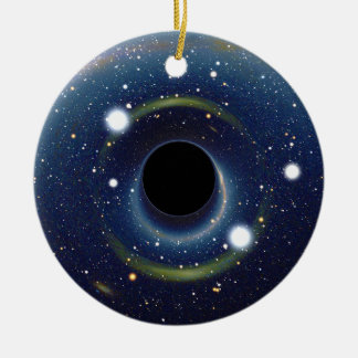 Black hole in front of the Large Magellanic Cloud Double-Sided Ceramic Round Christmas Ornament