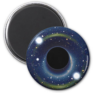 Black hole in front of the Large Magellanic Cloud Magnet