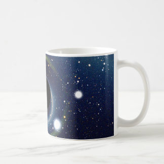 Black hole in front of the Large Magellanic Cloud Coffee Mugs