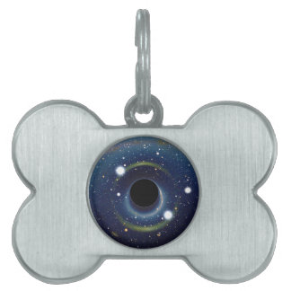 Black hole in front of the Large Magellanic Cloud Pet Name Tag