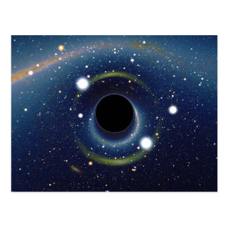 Black hole in front of the Large Magellanic Cloud Postcard