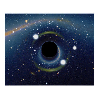 Black hole in front of the Large Magellanic Cloud Poster