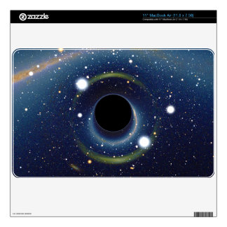 Black hole in front of the Large Magellanic Cloud MacBook Skin