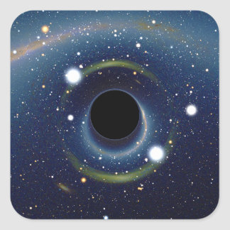 Black hole in front of the Large Magellanic Cloud Square Sticker