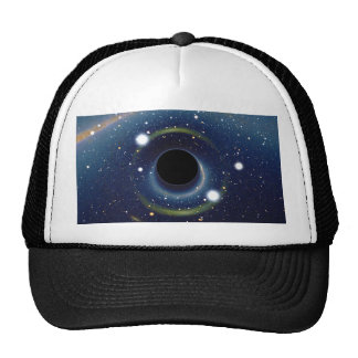 Black hole in front of the Large Magellanic Cloud Trucker Hat