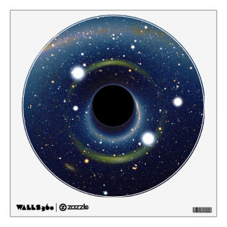 Black hole in front of the Large Magellanic Cloud Wall Sticker
