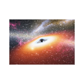 Black hole in space canvas print