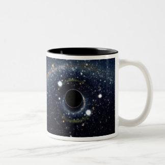 Black hole in space coffee mugs