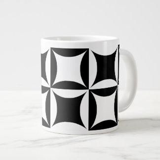 Black Hole in the Barn Door Pattern Large Coffee Mug