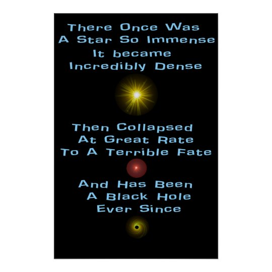 Black Hole Limerick Poster