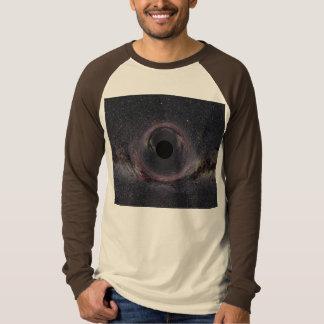 Black Hole Long Sleeve Tan Brown Raglan T-Shirt