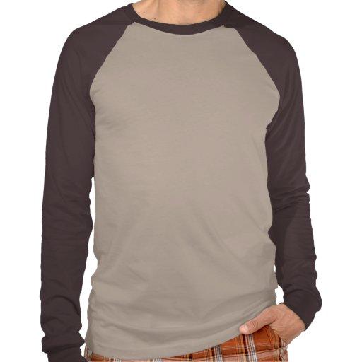 Black Hole Long Sleeve Tan Brown Raglan T-shirts