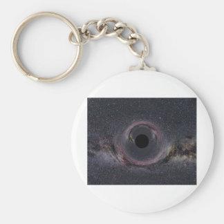 Black Hole Milky Way Basic Round Button Keychain