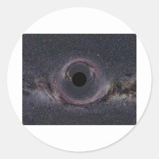 Black Hole Milky Way Classic Round Sticker