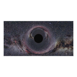 Black Hole Milky Way Picture Card
