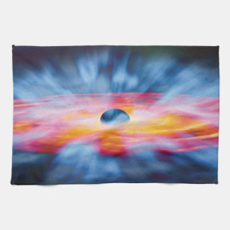 Black Hole Outflows - Colorful Artist Concept Hand Towel
