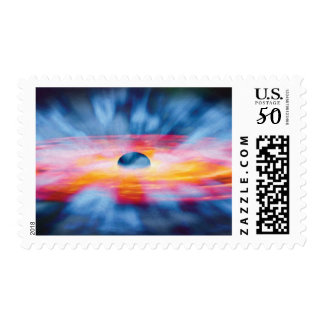 Black Hole Outflows - Colorful Artist Concept Postage