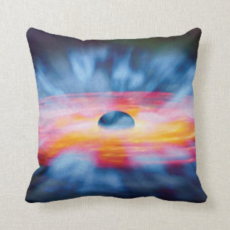 Black Hole Outflows - Colorful Artist Concept Throw Pillow