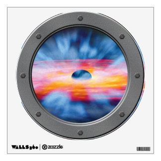 Black Hole Outflows Porthole Wall Decal