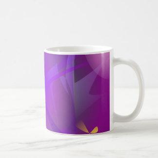 Black Hole Purple Digital Abstract Art Classic White Coffee Mug