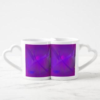 Black Hole Purple Digital Abstract Art Couples' Coffee Mug Set