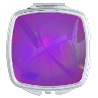 Black Hole Purple Digital Abstract Art Travel Mirrors