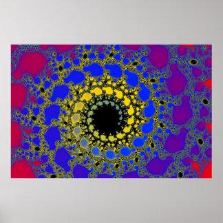 black hole spiral poster