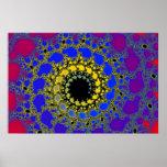 black hole spiral print