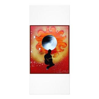 Black Hole Sun Behind Shadow Man Custom Rack Cards