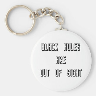 Black Holes Are Out of Sight Keychain