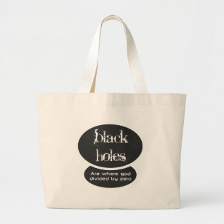 Black holes are the result of dividing by zero jumbo tote bag