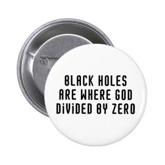 Black Holes Zero Pinback Button