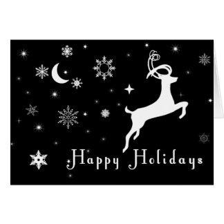 Black Holiday Card, Black Christmas Card