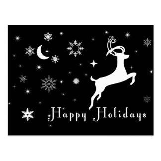 Black Holiday Card, Black Christmas Card Post Cards