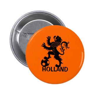 Black Holland Lion - Dutch Soccer Lion Pins