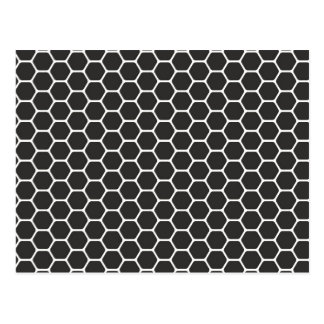 Black Honeycomb Postcard