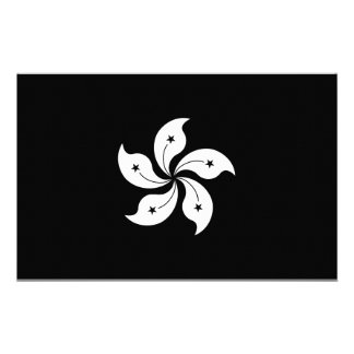Black Hong Kong Orchid Flower Regional Flag Customized Stationery