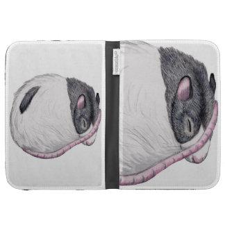 black hooded rat Kindle case