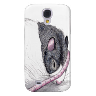 black hooded rat sleeping Samsung Galaxy S4 case