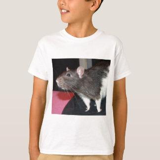 black hooded rat T-Shirt