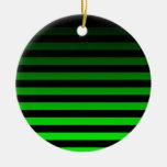 Black Horizontal Striped Christmas Ornament