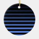 Black Horizontal Striped Ornament
